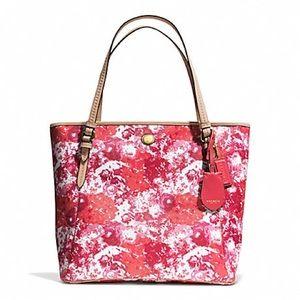 Coach Peyton Floral Print Zip Top Tote Bag